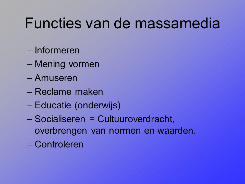 Functies van de massamedia