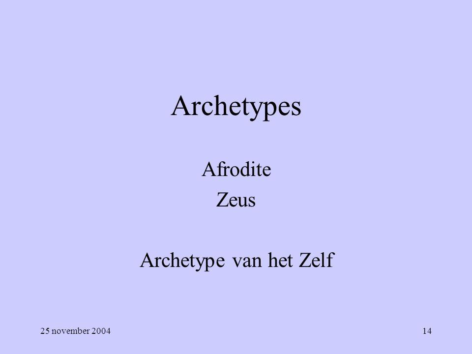 Afrodite Zeus Archetype van het Zelf