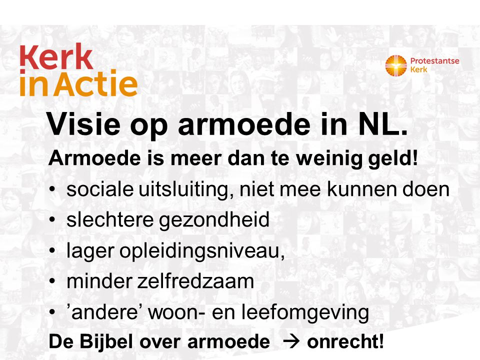 Visie op armoede in NL. Armoede is meer dan te weinig geld!