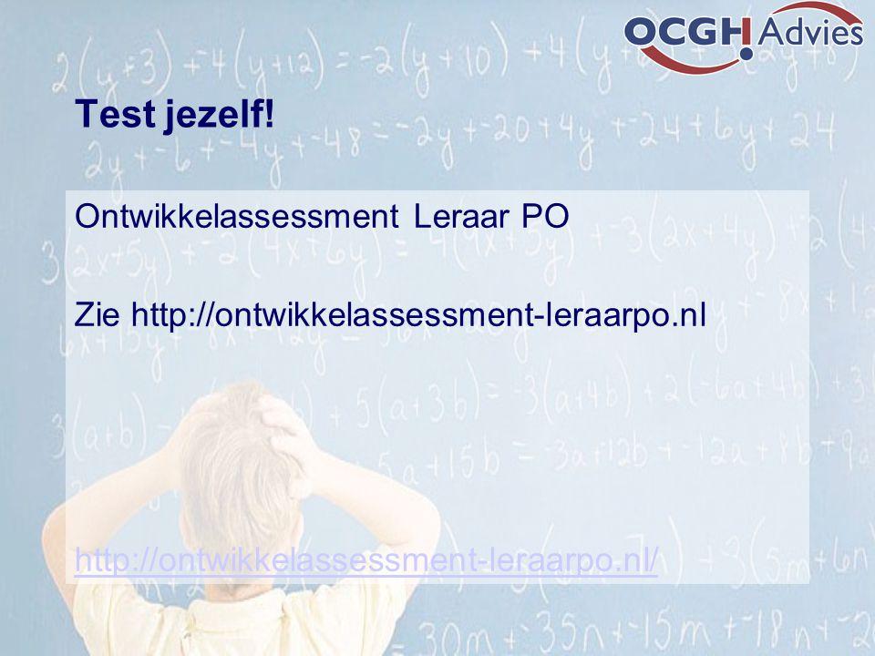 Test jezelf! Ontwikkelassessment Leraar PO