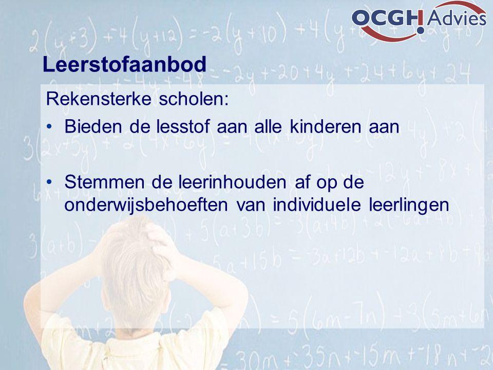 Leerstofaanbod Rekensterke scholen: