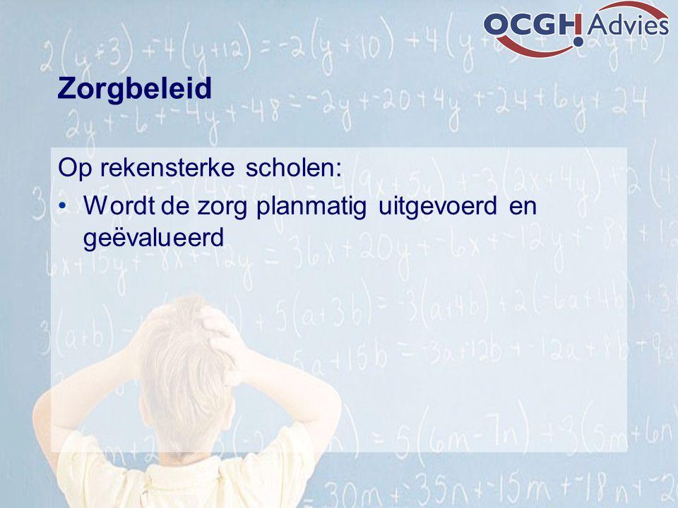 Zorgbeleid Op rekensterke scholen: