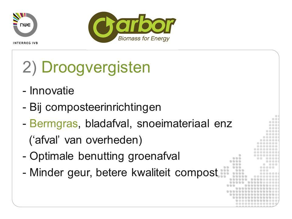 2) Droogvergisten - Innovatie - Bij composteerinrichtingen