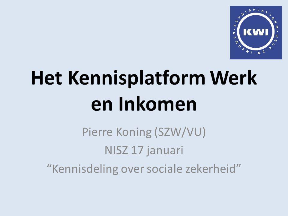 Het Kennisplatform Werk en Inkomen