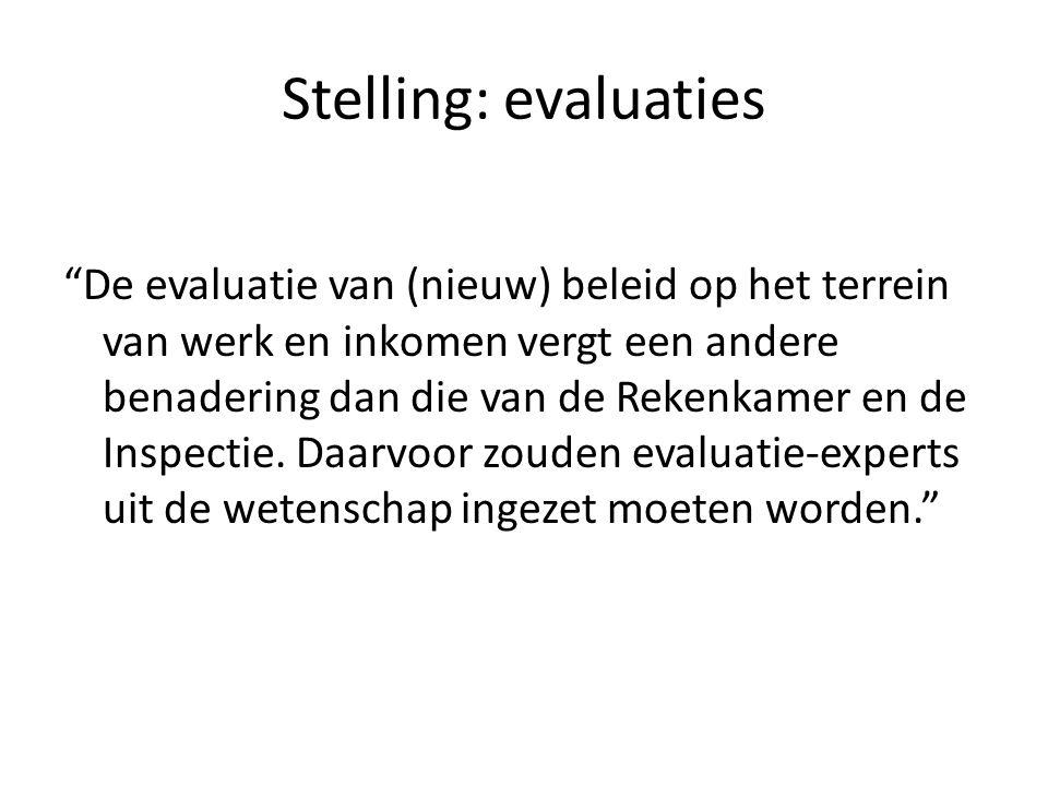 Stelling: evaluaties