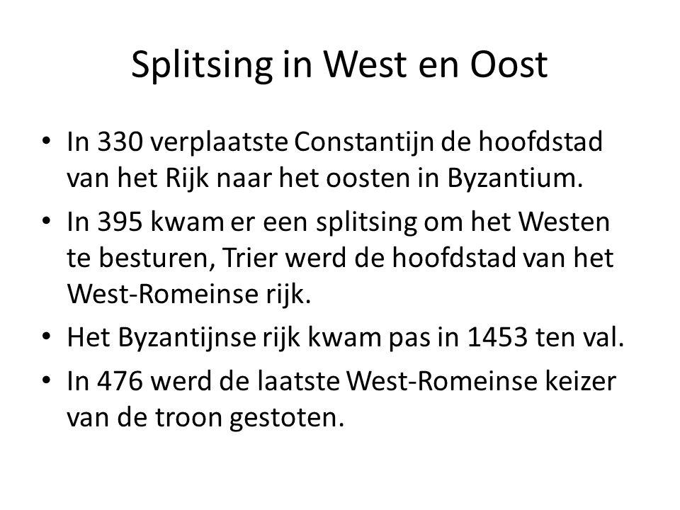Splitsing in West en Oost