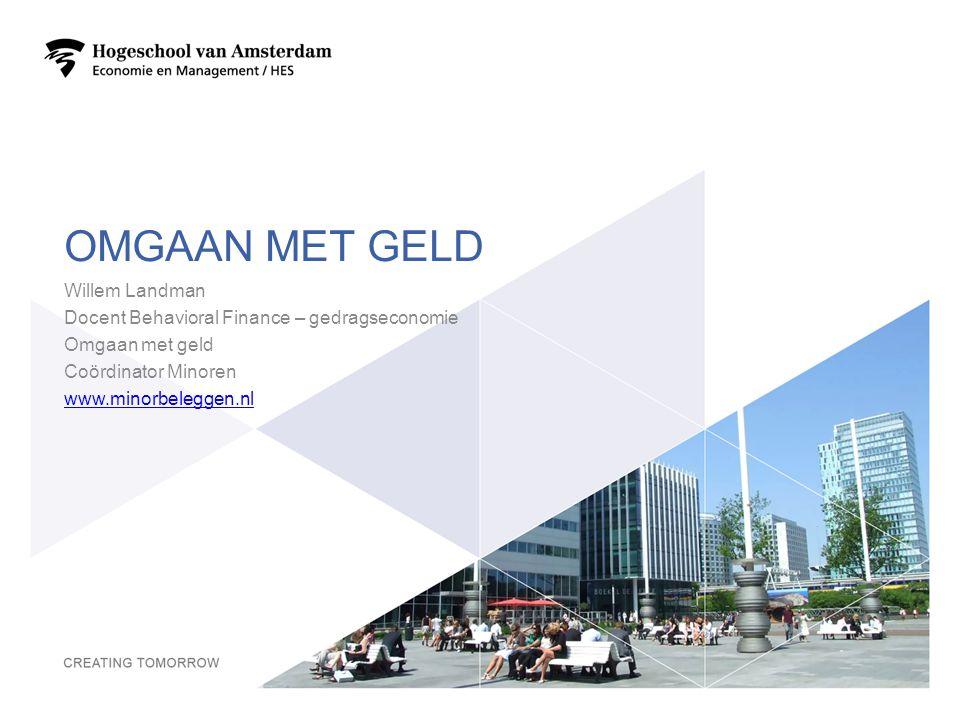 OMGAAN MET GELD Willem Landman