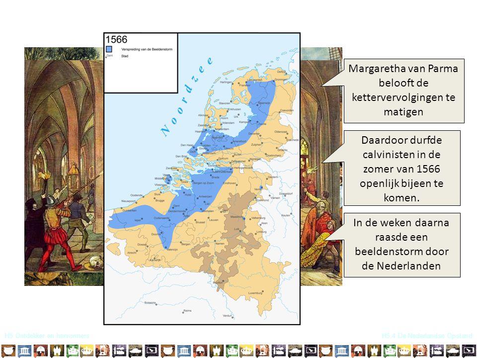 Margaretha van Parma belooft de kettervervolgingen te matigen