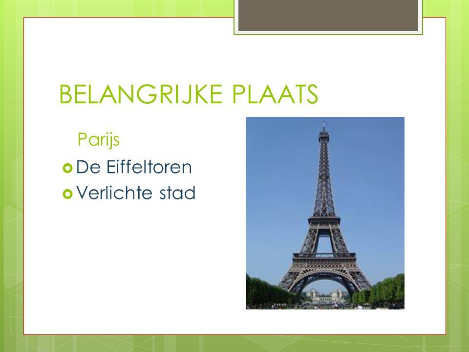 BELANGRIJKE PLAATS Parijs De Eiffeltoren Verlichte stad