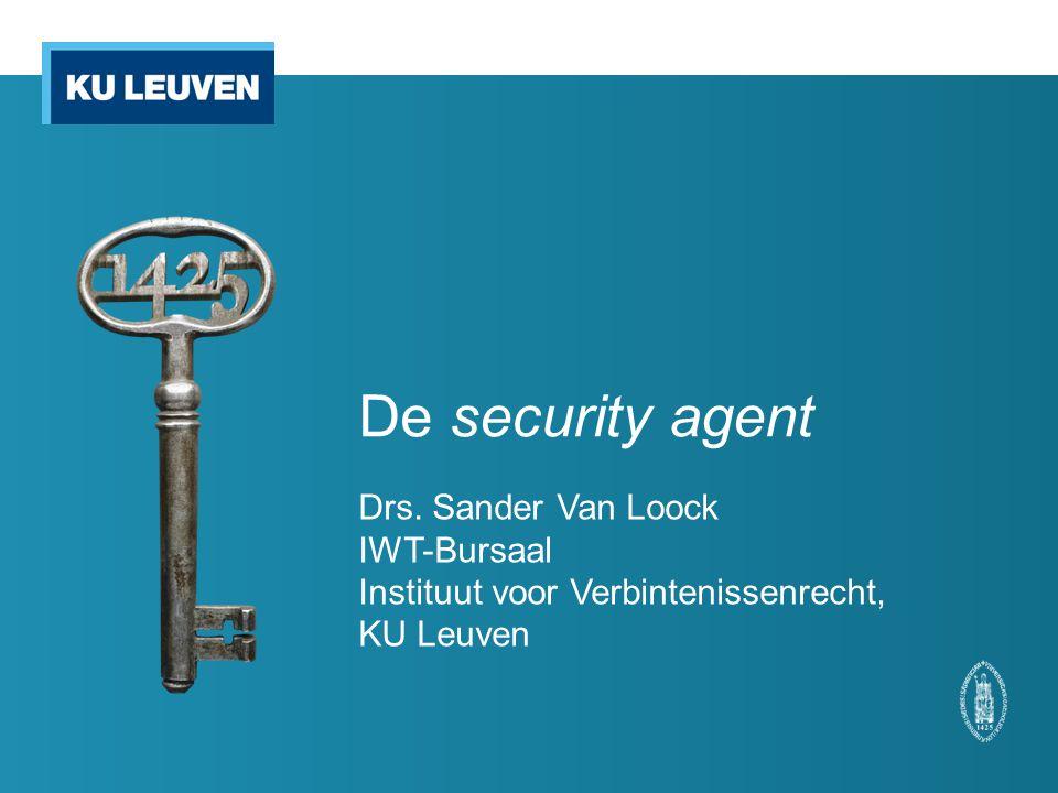 De security agent Drs. Sander Van Loock IWT-Bursaal