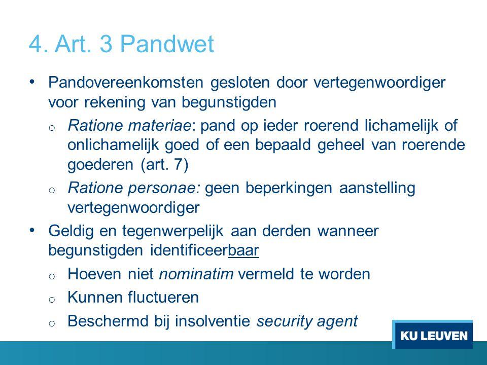 4. Art. 3 Pandwet Pandovereenkomsten gesloten door vertegenwoordiger voor rekening van begunstigden.