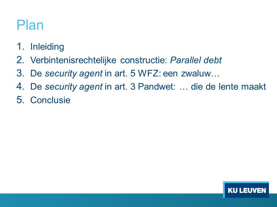 Plan Inleiding Verbintenisrechtelijke constructie: Parallel debt