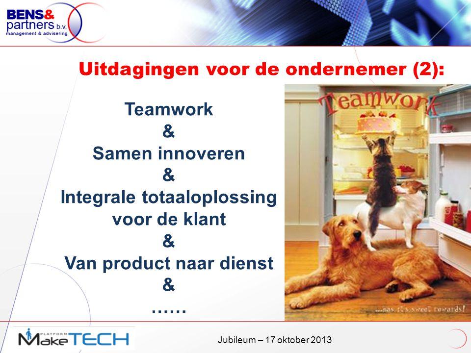 Uitdagingen voor de ondernemer (2):