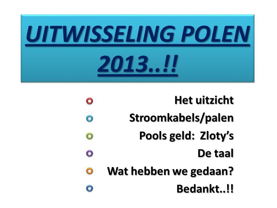 UITWISSELING POLEN 2013..!! Het uitzicht Stroomkabels/palen