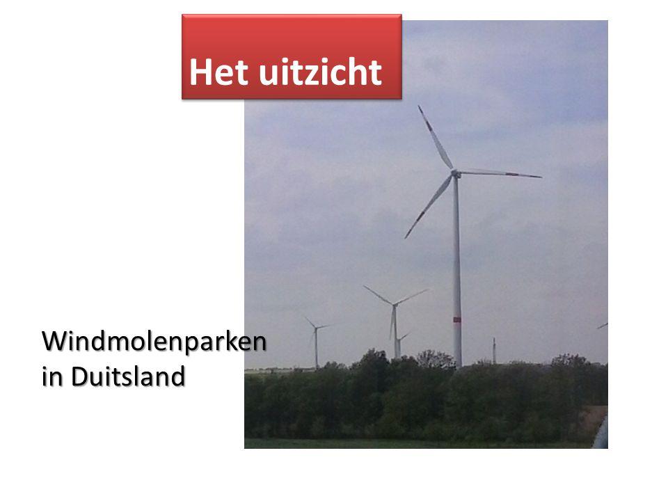 Het uitzicht Windmolenparken in Duitsland