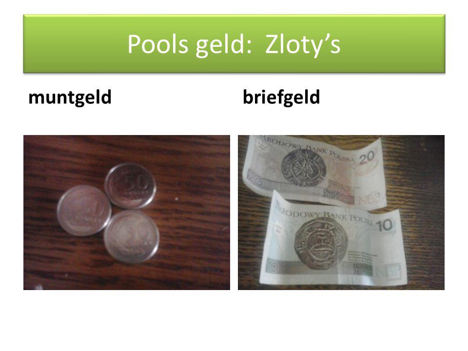 Pools geld: Zloty's muntgeld briefgeld -muntgeld = groszy's