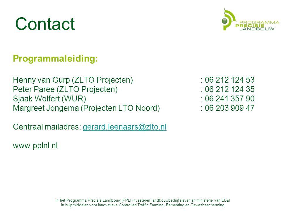 Contact Programmaleiding: