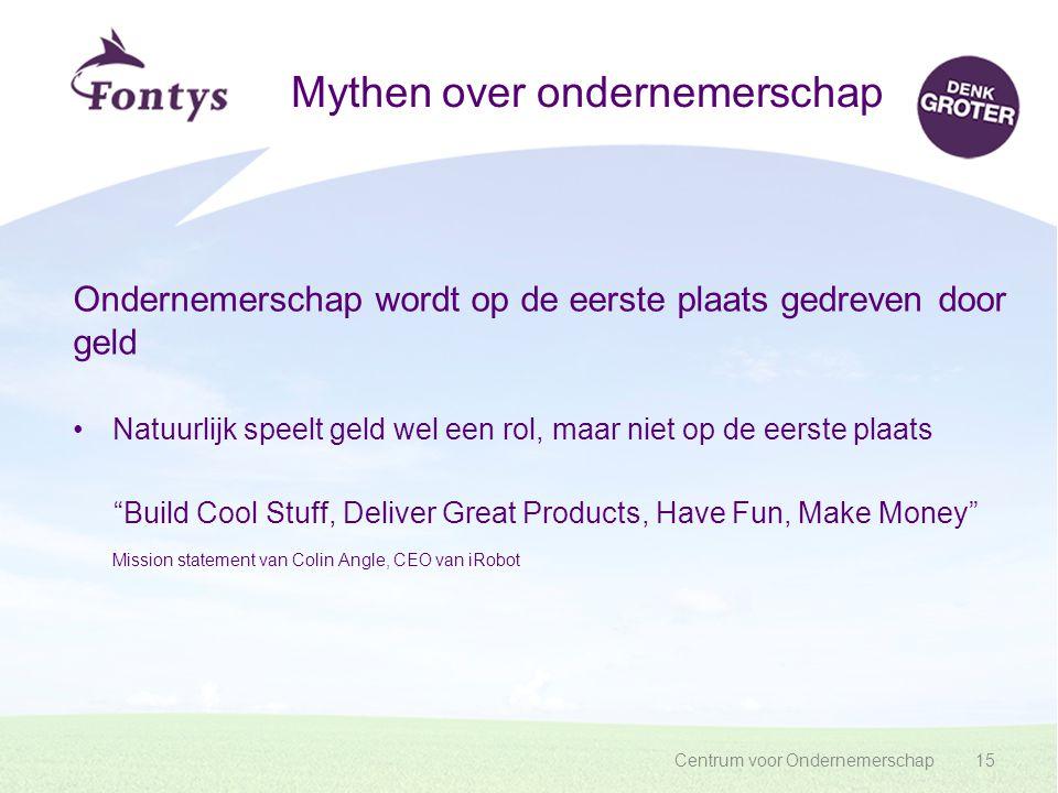 Mythen over ondernemerschap