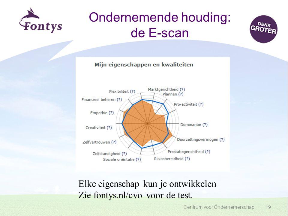 Ondernemende houding: de E-scan