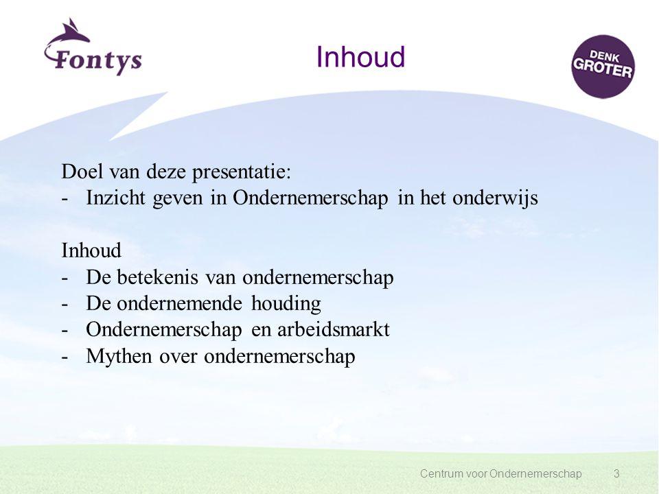 Inhoud Doel van deze presentatie: