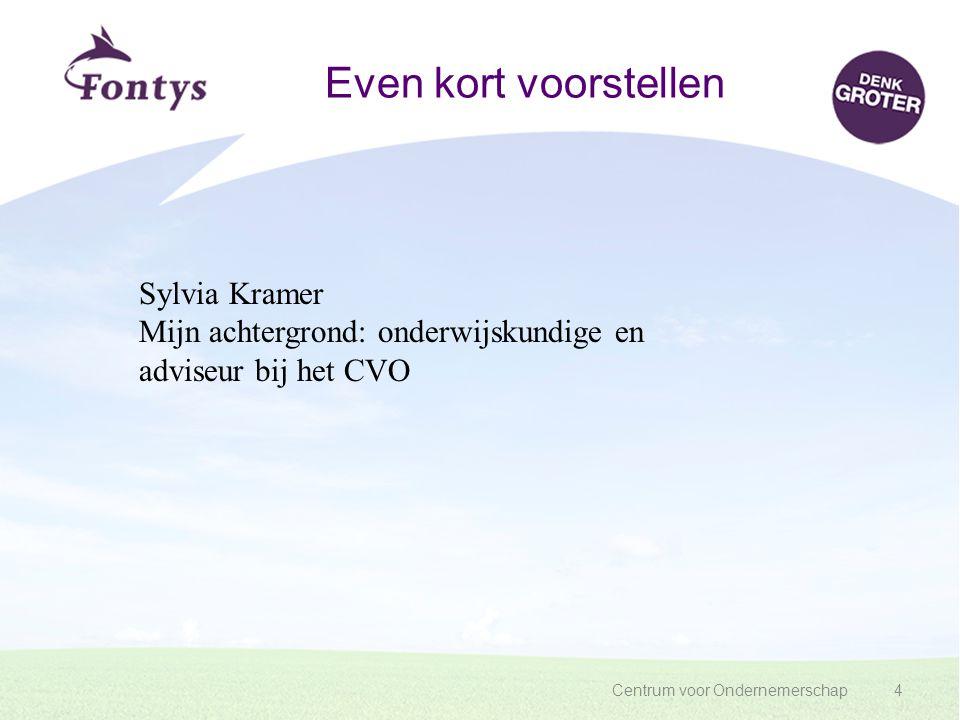 Even kort voorstellen Sylvia Kramer