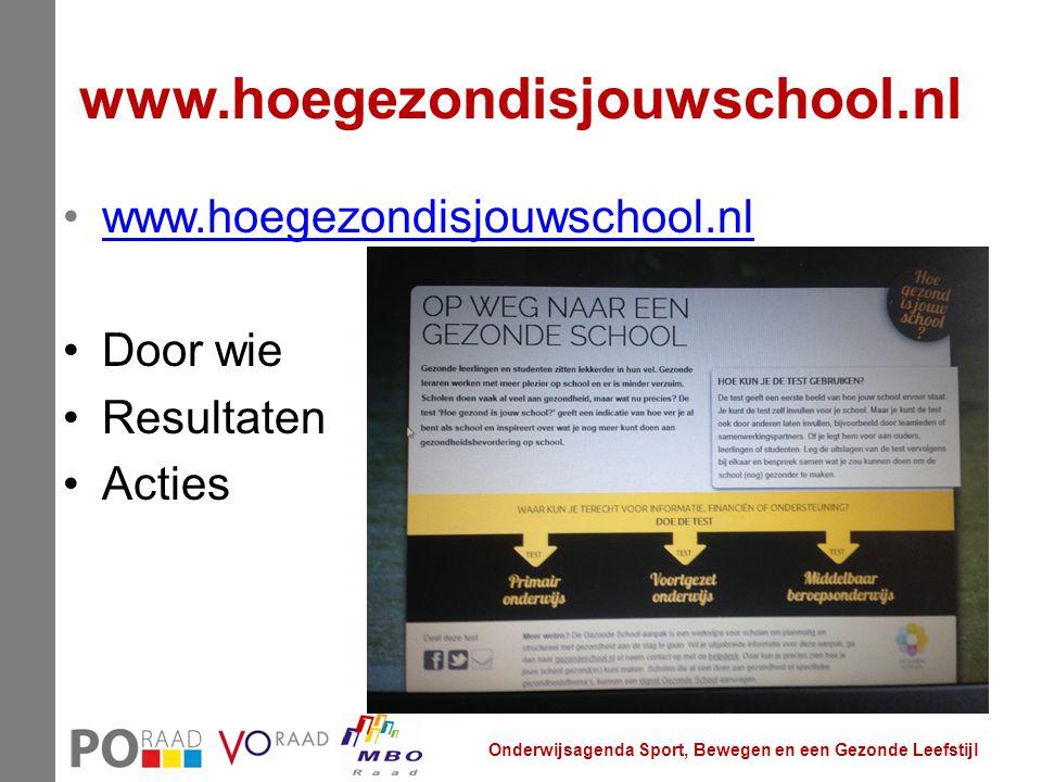 www.hoegezondisjouwschool.nl www.hoegezondisjouwschool.nl Door wie