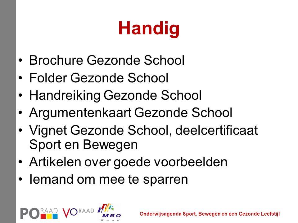 Handig Brochure Gezonde School Folder Gezonde School