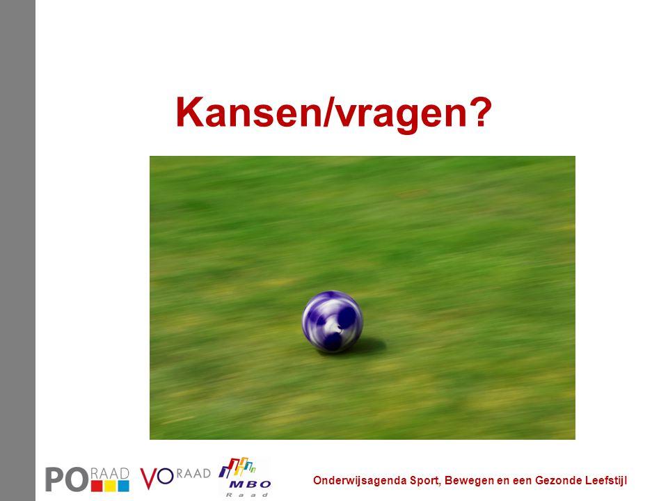 Kansen/vragen Onderwijsagenda Sport, Bewegen en een Gezonde Leefstijl