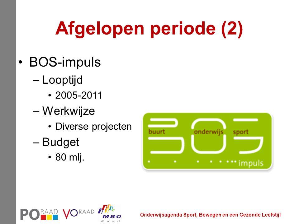 Afgelopen periode (2) BOS-impuls Looptijd Werkwijze Budget 2005-2011