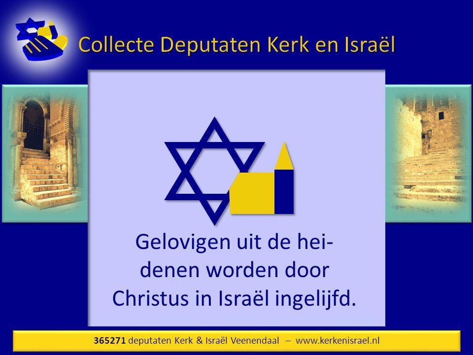 Gelovigen uit de hei-denen worden door Christus in Israël ingelijfd.