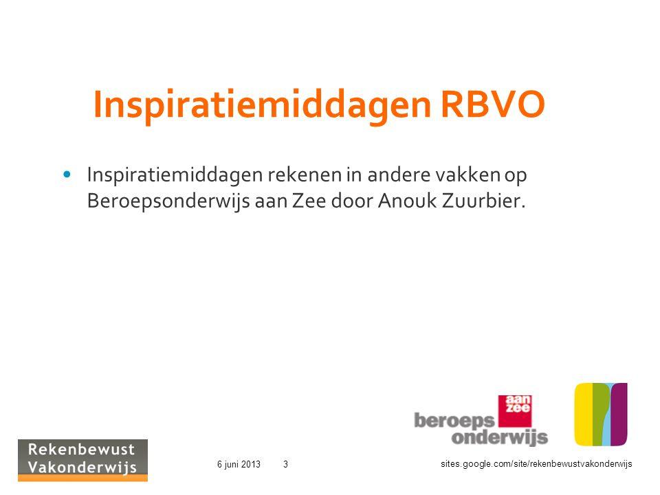 Inspiratiemiddagen RBVO