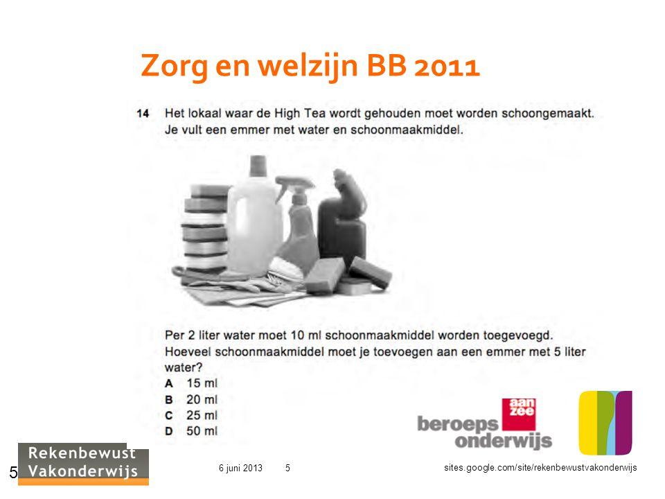 Zorg en welzijn BB 2011