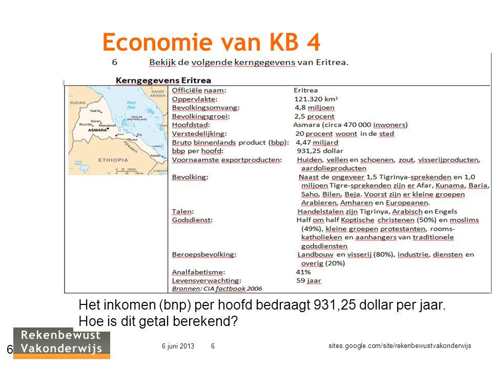 Economie van KB 4 Welke problemen moeten leerlingen oplossen. Het inkomen (bnp) per hoofd bedraagt 931,25 dollar per jaar.