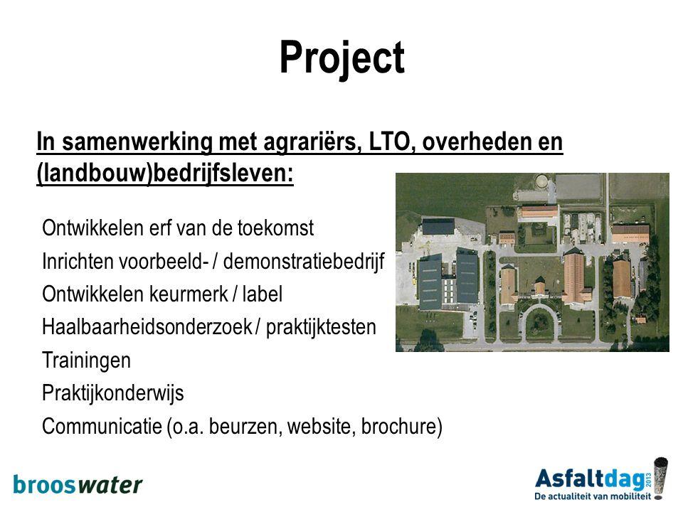 Project In samenwerking met agrariërs, LTO, overheden en (landbouw)bedrijfsleven: Ontwikkelen erf van de toekomst.