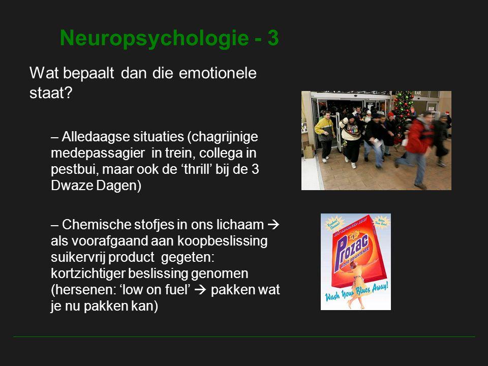 Neuropsychologie - 3 Wat bepaalt dan die emotionele staat