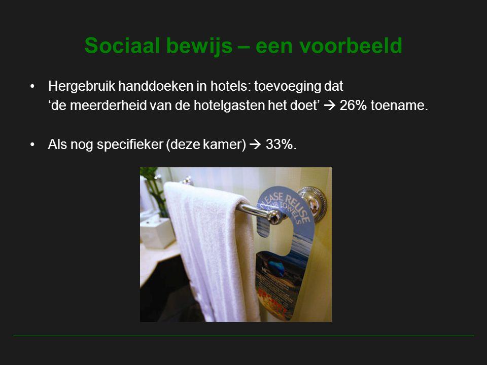 Sociaal bewijs – een voorbeeld