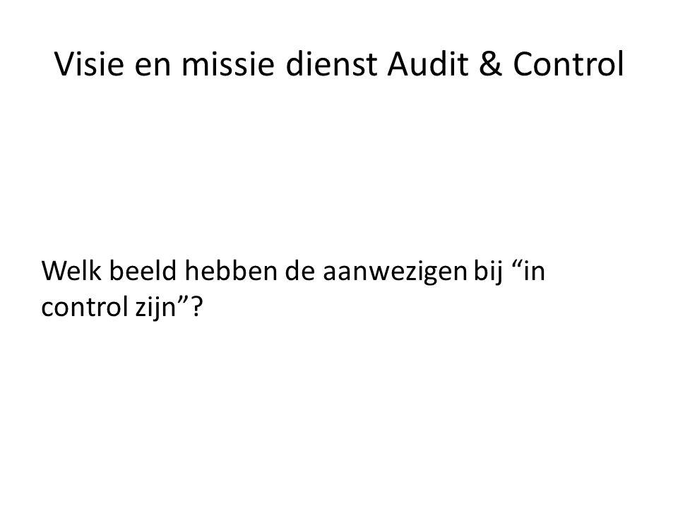 Visie en missie dienst Audit & Control