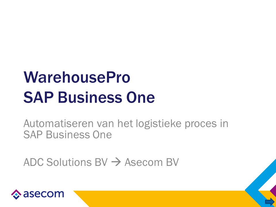 WarehousePro SAP Business One