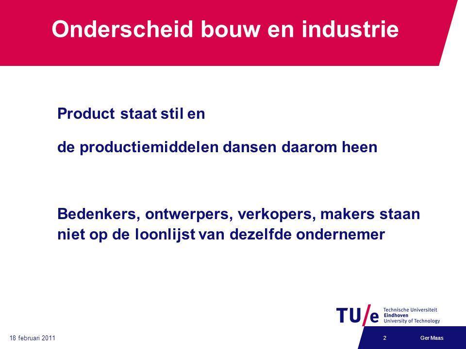 Onderscheid bouw en industrie