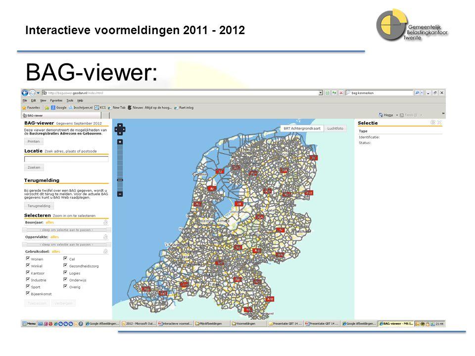Interactieve voormeldingen 2011 - 2012