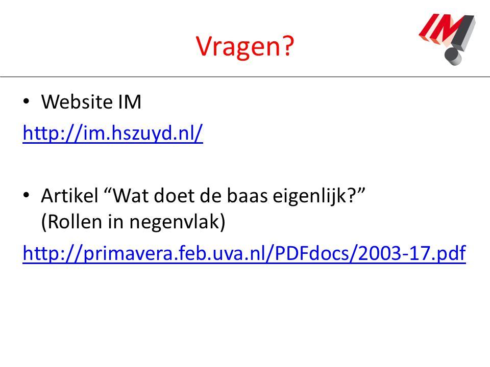Vragen Website IM http://im.hszuyd.nl/