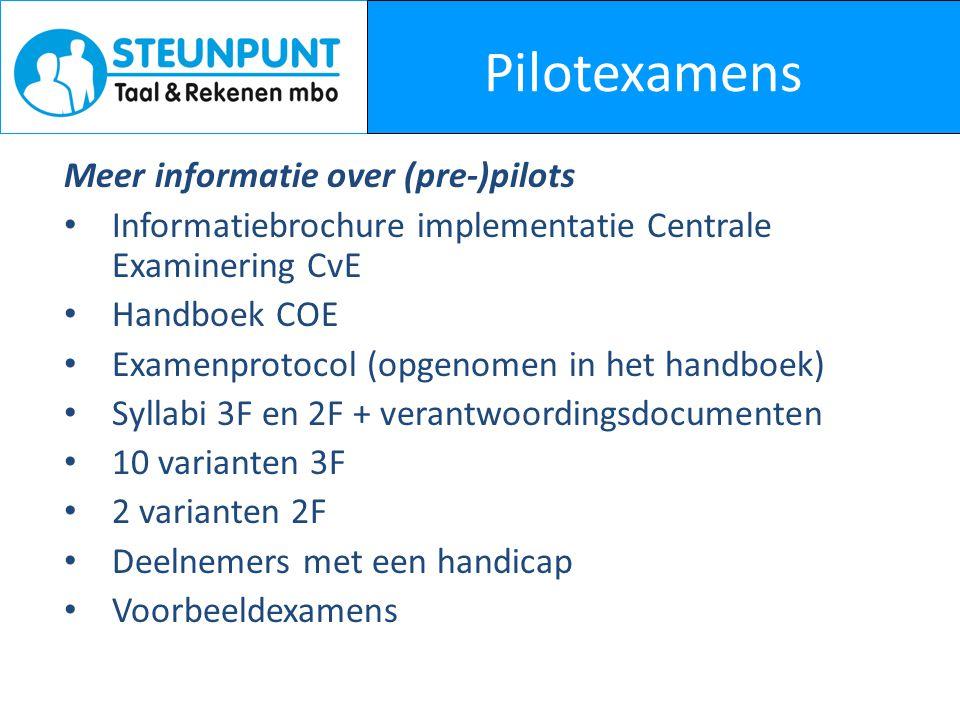 Pilotexamens Meer informatie over (pre-)pilots