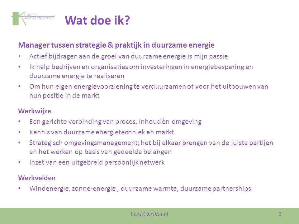 Werkveld Windenergie hans@kursten.nl Ecopark Waalwijk
