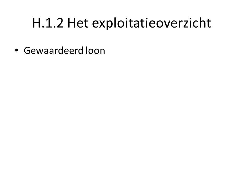 H.1.2 Het exploitatieoverzicht