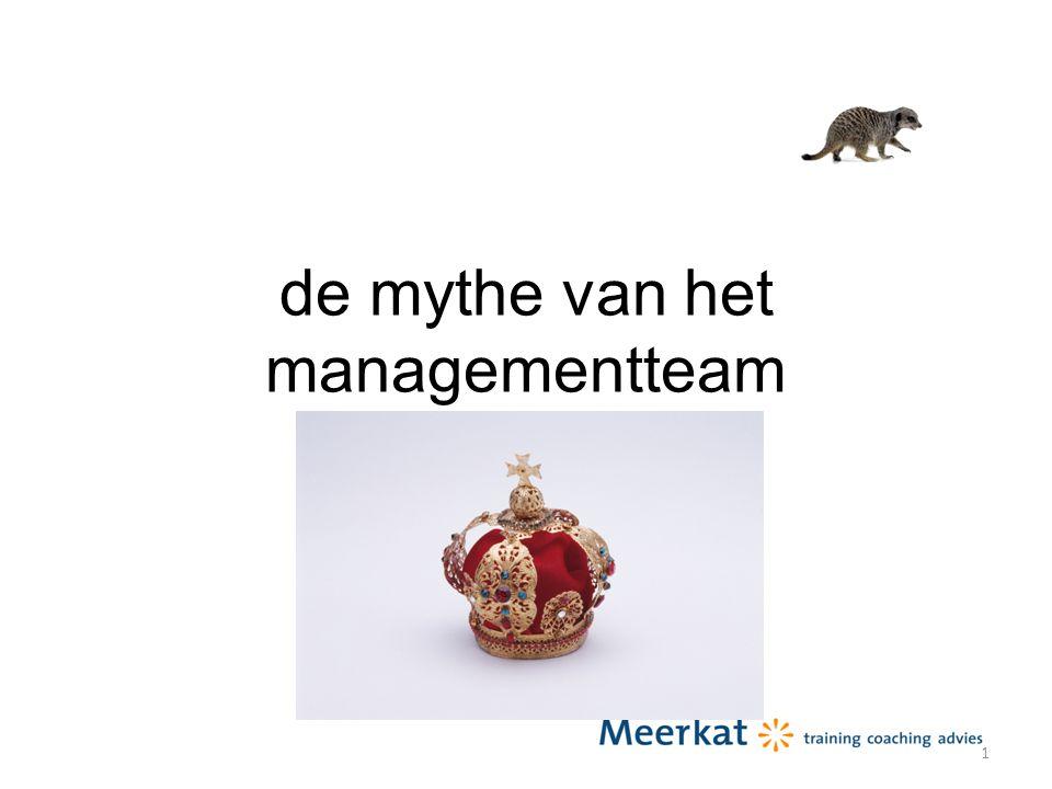 de mythe van het managementteam