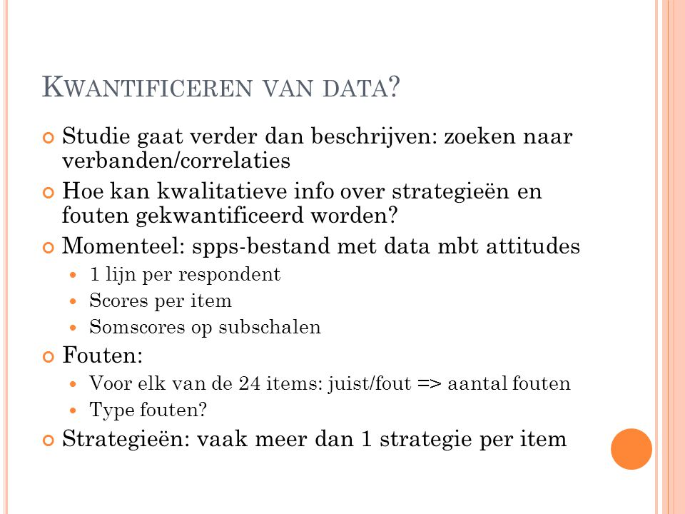 Kwantificeren van data