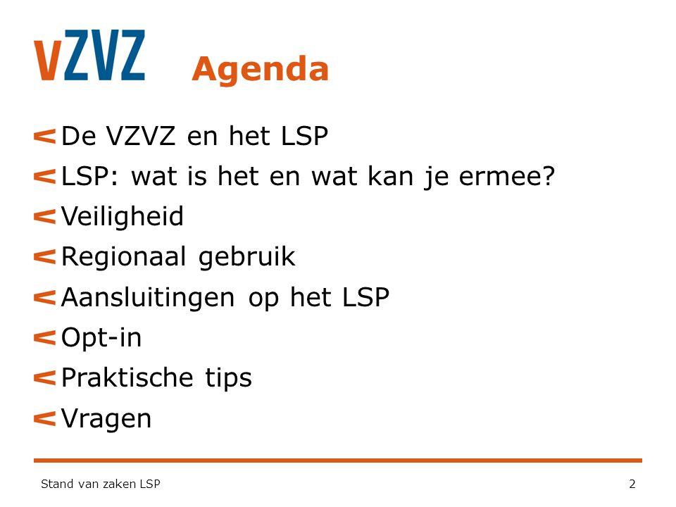 Agenda De VZVZ en het LSP LSP: wat is het en wat kan je ermee