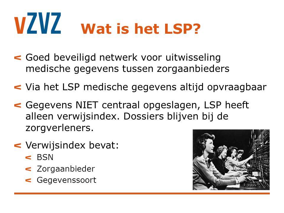 Wat is het LSP Goed beveiligd netwerk voor uitwisseling medische gegevens tussen zorgaanbieders. Via het LSP medische gegevens altijd opvraagbaar.