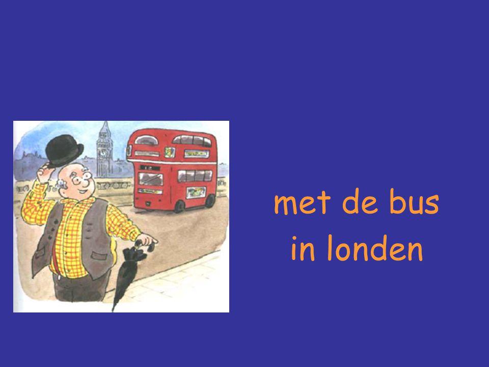 met de bus in londen