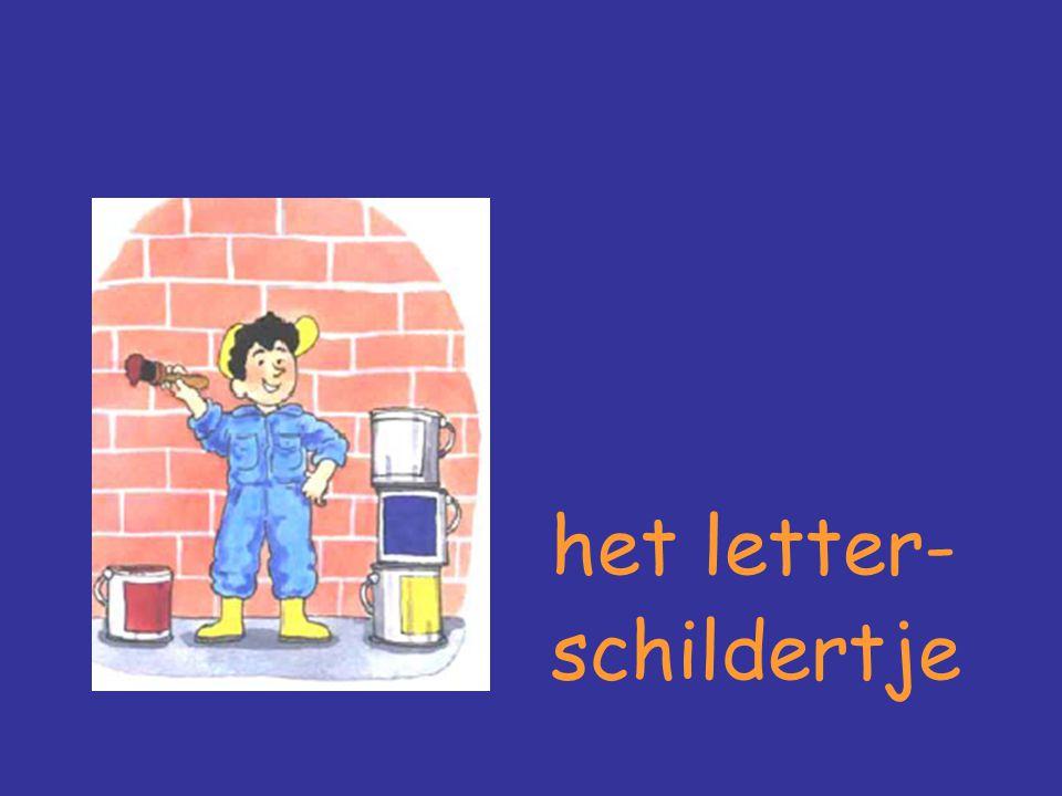 het letter- schildertje